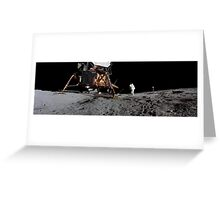 Apollo 17 : Panoramic Digital Painting of the Moon Landing Greeting Card