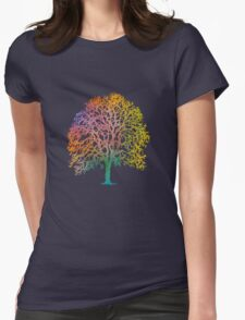 Color Abstract Art Womens Fitted T-Shirt