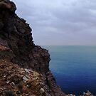 Cliffs of Santorini by Lolabud