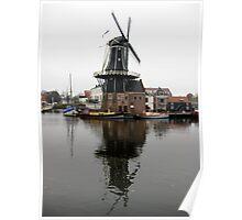 Windmill, Haarlem Poster