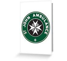 TARDIS St. John Ambulance Starbucks Logo Greeting Card