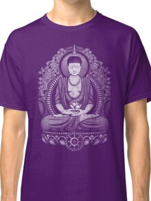Gautama Buddha White Halftone Distressed Classic T-Shirt