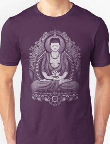 Gautama Buddha White Halftone Distressed T-Shirt