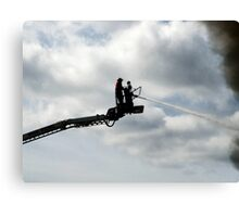 Platform fire fighter Canvas Print