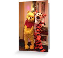 Pooh & Tigger Greeting Card