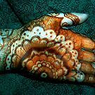 Henna Art on the Palm of My Hand by bajidoo