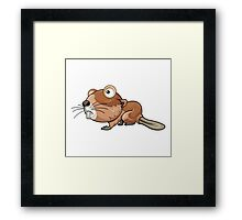 Cartoon Beaver Character Framed Print