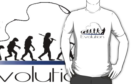 Evolution of fisherman by Mundy Hackett