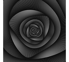 Spiral Labyrinth in Monochrome Photographic Print