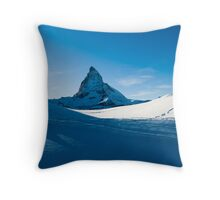 blue matterhorn Throw Pillow