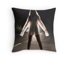 back road girl Throw Pillow