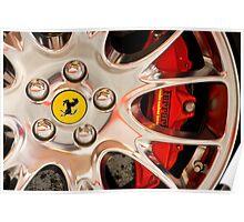 Ferrari Wheel and Brakes Poster