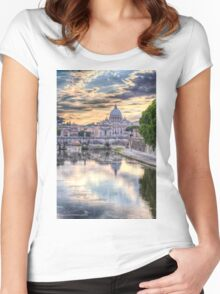 Dusk Descends on Rome Women's Fitted Scoop T-Shirt