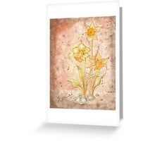 The Grunge Daffodils Greeting Card