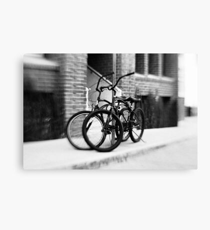 Bicycles #1 Canvas Print