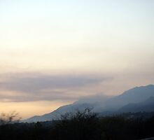 Smoke along the mountains - Santa Barbara Coast Friday 11-14-2008 by leih2008