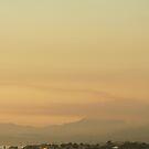 Santa Barbara Area; Smoke heads towards the ocean off the 101 11-14-2008 by leih2008