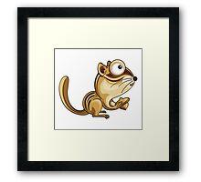 Cartoon Chipmunk Character Framed Print