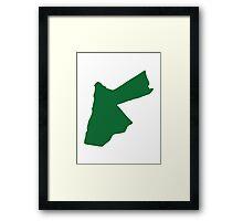 Jordan map  Framed Print