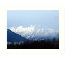 Glaciated Mountain Art Print
