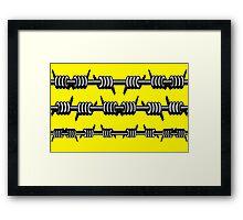 Barbed Wire 2 Design  Framed Print