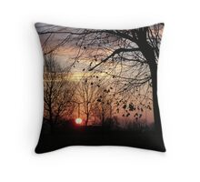 WINTER SKY Throw Pillow