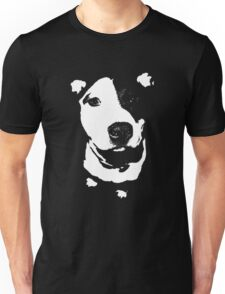 Louie - Black and white pit bull Unisex T-Shirt