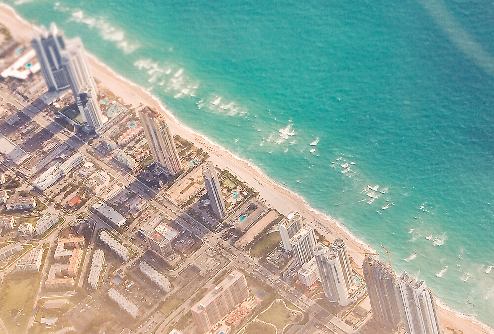 miami from the air by gregneedham