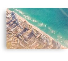 miami from the air Canvas Print