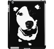 Louie - Black and white pit bull iPad Case/Skin