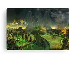 GREEN PYRAMID MINES by ethereal c2008 Canvas Print