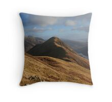 Beinn na Caillich from Mam na Gualainn Throw Pillow
