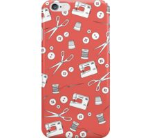 Sewing Kit in Coral iPhone Case/Skin