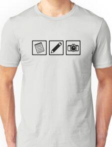 Journalist equipment Unisex T-Shirt