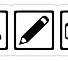Journalist equipment Sticker