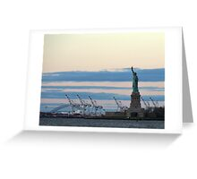 New York Salutes the Dawn Greeting Card