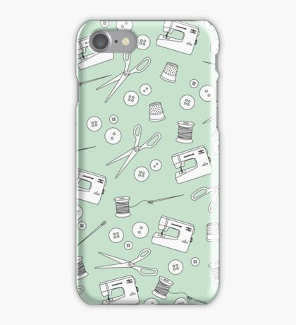 Sewing Kit in Mint iPhone Case/Skin