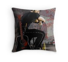 """Dirty Boy"" Throw Pillow"