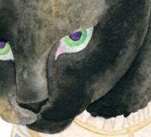 Friday the 13th Pt1: Unlucky Fancy Black Cat Portrait Sticker