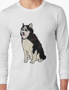 Staring Husky Long Sleeve T-Shirt