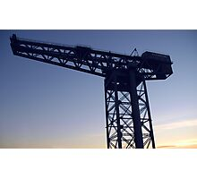 Finnieston Crane on the Clyde in Glasgow Photographic Print