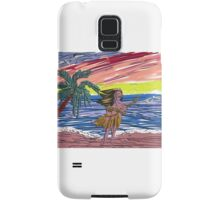 The embossed beach scene Samsung Galaxy Case/Skin