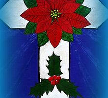Poinsettia Cross by VJMaheu