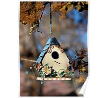 Country Birdhouse Poster