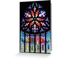 Stained Glass window in Linlithgow Greeting Card