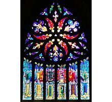Stained Glass window in Linlithgow Photographic Print