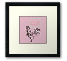 Mr Rooster Framed Print
