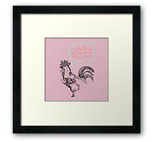 Mr Rooster Framed Print