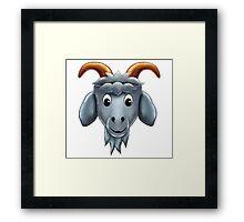 Happy Goat Cartoon Character Framed Print