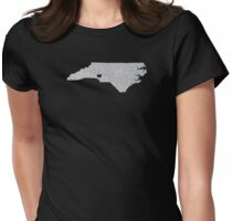 Charlotte, NC Glitter State Womens Fitted T-Shirt